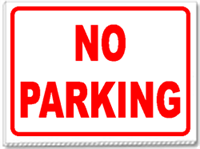 No Parking Signs.  Good for temporary use.