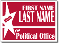 Political Signs with Stands - Design P101 - Star Design