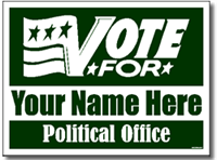 Political Signs with Stands - Design P103 - Vote For Design