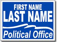 Political Signs with Stands - Design P104 - Full Reverse