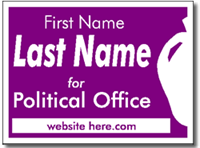 Political Yard Signs - Poster Board Sign One Click Kit - Style P107