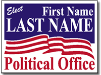 Political Signs with Stands - Design P12 - American Flag Design