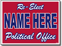 Political Signs with Stands - Design P22 - Full Reverse