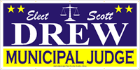 Judicial Election Sign Banner P62
