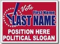 Design P72 Political Sign Design