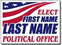 Political Signs with Stands - Design P92 - American Flag Design