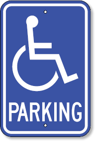 Tennessee Parking Sign With Handicapped Accessible Symbol