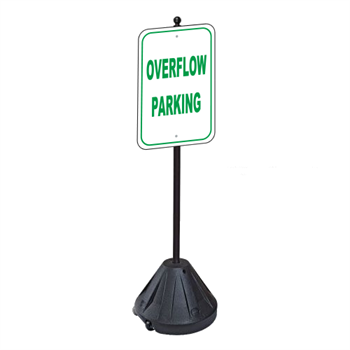 Overflow Parking Sign with Portable Pole