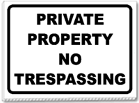 Private Parking No Trespassing 24x18 Yard Sign - 1 Color