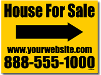 Real Estate Yard Sign Design RE01 - One Click Kit
