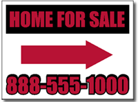 Real Estate Yard Sign Design RE04 - One Click Kit - Two Color with Arrow