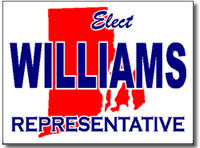 Rhode Island Political Yard Sign With Stands