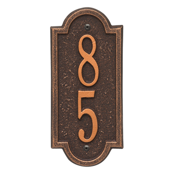 Richmond Vertical Wall Plaque - Mini - Oil Rubbed Bronze