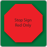 octagon yard sign blank stop sign