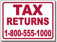 tax yard sign template design tax01