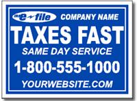 tax yard sign template design tax03
