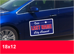 Campaign Special - 18'' x 12'' Magnetic Car Signs. Sold Per Pair