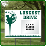 Reusable Longest Drive Golf Outing Sign