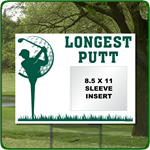 Reusable Longest Putt Golf Outing Sign