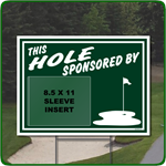 Reusable Golf Hole Sponsor Sign with Clear Sleeve