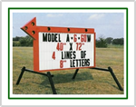 Portable Roadside Sign with Arrow (40 inch x 72 inch Sign Face)