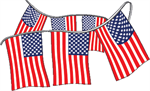 Fourth of July American Flag Pennant String