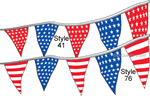 Fourth of July Americana Pennants