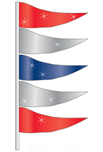 Antenna Pennants - Metallic Pennant Flags - Metallic Totems Style K shown.