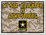Military Sign Template. Army Stong Sign Design