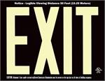 Photoluminescent Exit Signs - 50' Visibility - UL 924 - Black