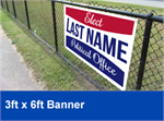 Campaign Special Custom Vinyl Banner - 3x6 Banner