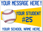 Custom Baseball Sign - 24x18 Yard Sign with Stake