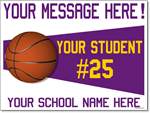Custom Basketball Sign - 24x18 Yard Sign with Stake