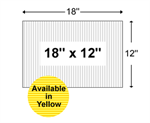 Corrugated Plastic Yard Sign Blanks - 18'' x 12''