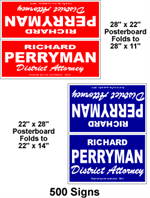 Cheap political signs.  Paper board yard signs.