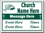 Church Yard Sign Design CH06 - One Click Kit - Service Design