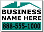 Contractor Yard Sign Template.  Two Color Roofing Design.