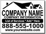 Contractor Yard Sign Template.  One Color Design.