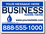 Contractor Yard Sign Template.  Two Color Plumbing Design.