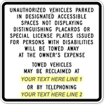 California Handicapped Parking Sign