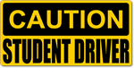 Caution Student Driver Magnetic Car Sign