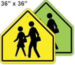 Children Crossing Symbol School Sign 36 x 36
