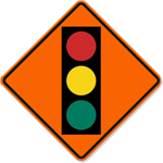 Traffic Sign with Symbol 30 x 30