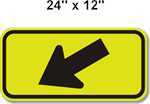 Crosswalk Arrow Sign 24 x12