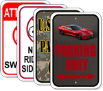 Custom Full Color Parking Sign 12 x 18