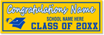 Graduation Banner - Style 3 - 2ft x 6ft