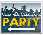 Custom Graduation Party Sign with Arrows - FRONT