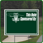 Disk Golf Hole Sponsor Sign - Blank