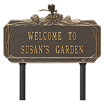 Dragonfly Garden Personalized Lawn Plaque - Bronze / Gold