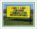 E-Con-O Board Portable Roadside Sign (48 inch x 96 inch Sign Face)